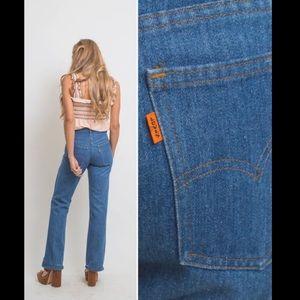 Vintage 70's Orange Tab Flare Leg Levi's